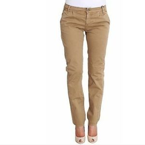 CNC Chinos straight leg slim cotton in tan s 26/S